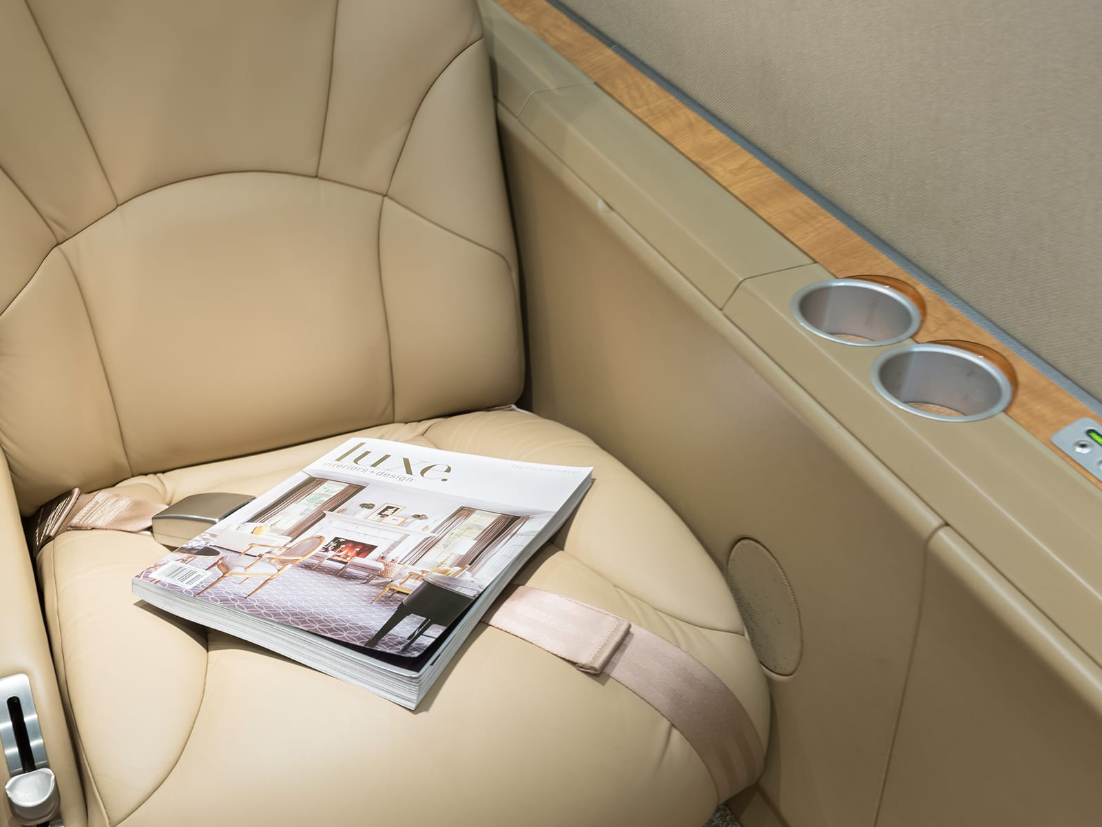 A seat in a Priority Jet airplane