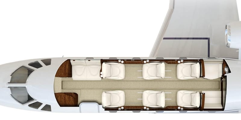 A seating Charter for a Priority Jet Cessna Citation