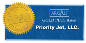 the Priority Jet ARG/US Gold Plus rating badge