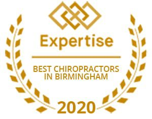 Best chiropractors in Birmingham badge